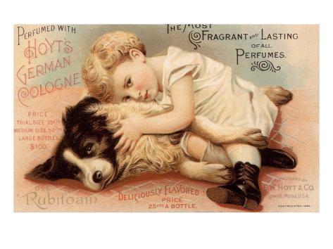 Hoytes Cologne, Dogs, Womens, USA, 1890 Giclée-tryk