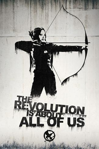 Hunger Games- Graffiti Plakat
