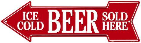 Ice Cold Beer Sold Here Blikskilt