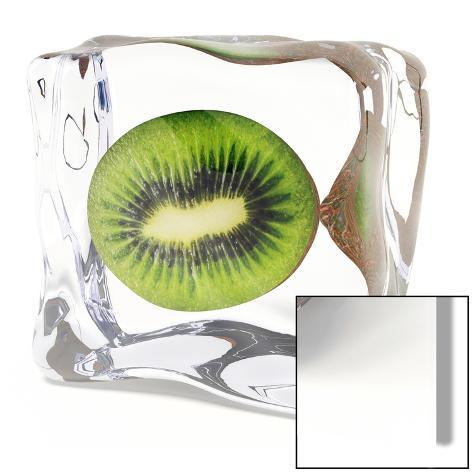 Iced Kiwi Kunst på glass