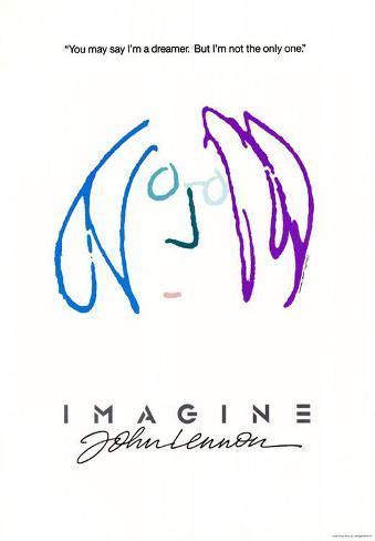 Imagine John Lennon Masterprint