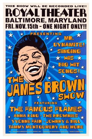 James Brown, Baltimore, 1963 Kunsttryk