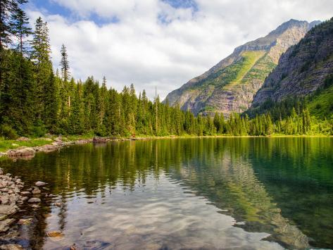 Avalanche Lake, Glacier National Park, Montana, USA Fotografisk tryk