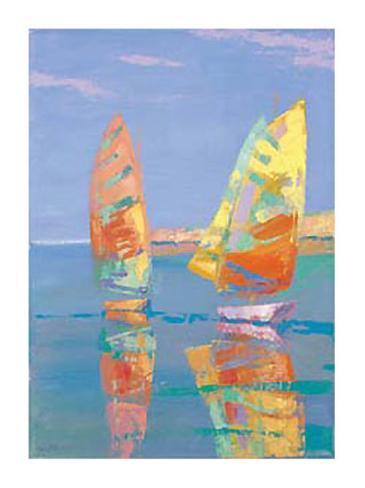 Boat Race II Kunsttrykk