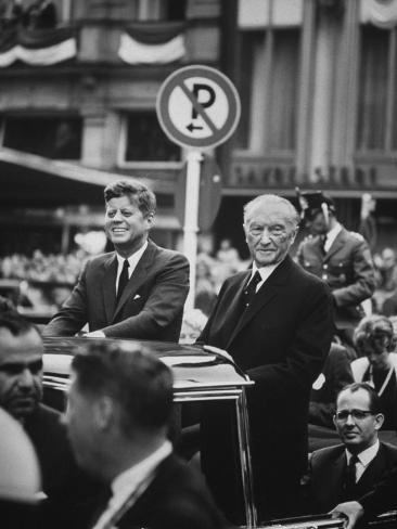Konrad Adenauer with President John F. Kennedy Fotografisk trykk