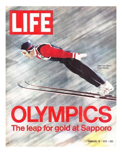 Olympics, Ski Jumper Yukio Kasaya, February 18, 1972 Fotografisk trykk