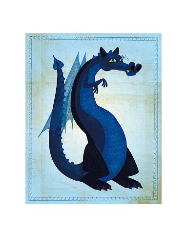 Blue Dragon Kunsttrykk