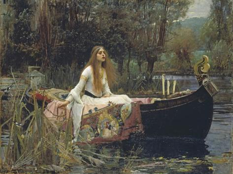 Damen fra Shalott, The Lady of Shalott Giclée-tryk