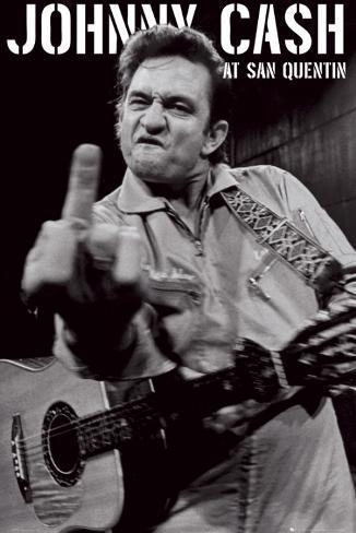 Johnny Cash, San Quentin-portrett Plakat