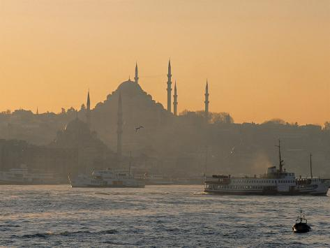 Suleymaniye Mosque, Istanbul, Turkey, Istanbul, Turkey Fotografisk tryk