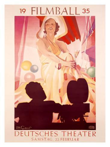 Filmball, c.1935 Giclee-trykk