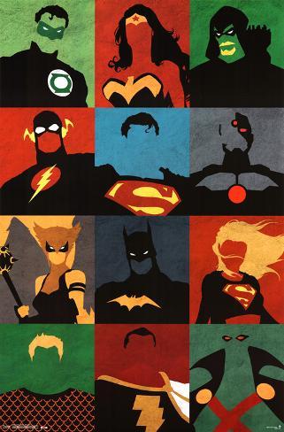 Justice League - Minimalist Plakat