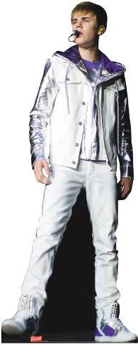 Justin Bieber- Blue profile shot Stand Up