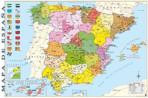 puerto rico spania kart Kart over Spania Plakater hos AllPosters.no puerto rico spania kart
