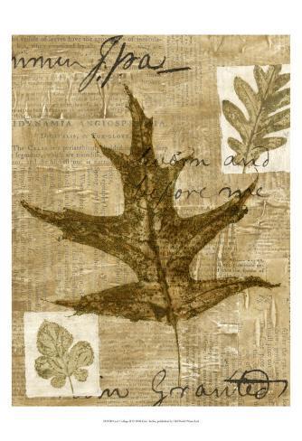 Leaf Collage II Kunsttryk