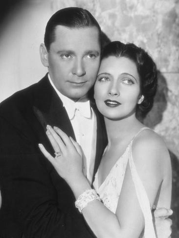 Kay Francis and Herbert Marshall: Haute Pègre, 1932 Fotografisk trykk