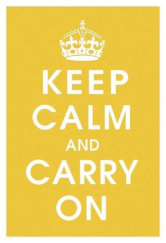Keep Calm (mustard) Kunsttryk