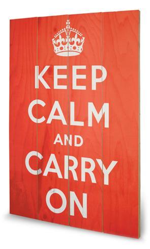 Keep Calm Treskilt