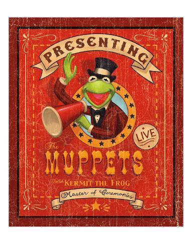 Kermit the Frog: Master of Ceremonies Kunsttryk