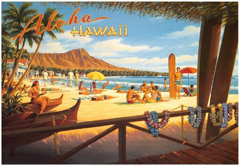 Aloha Hawaii Kunsttrykk