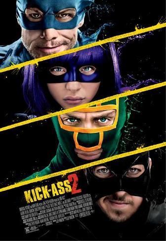 Kick-Ass 2 (Aaron Taylor-Johnson, Chloe Grace Moretz) Movie Poster Mestertrykk