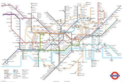 Kort over Londons undergrundsbane Plakat