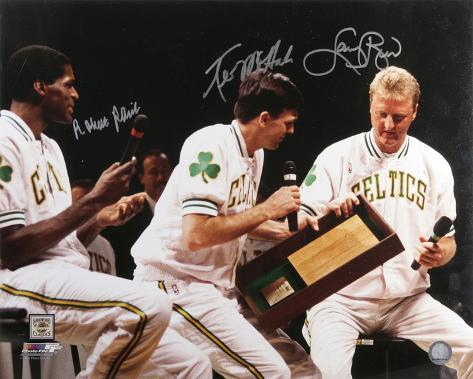 Larry Bird, Robert Parish & Kevin McHale Celtics Autographed Photo (Hand Signed Collectable) Foto