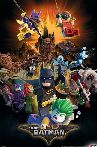 Lego Batman- Heroes And Villians Plakat
