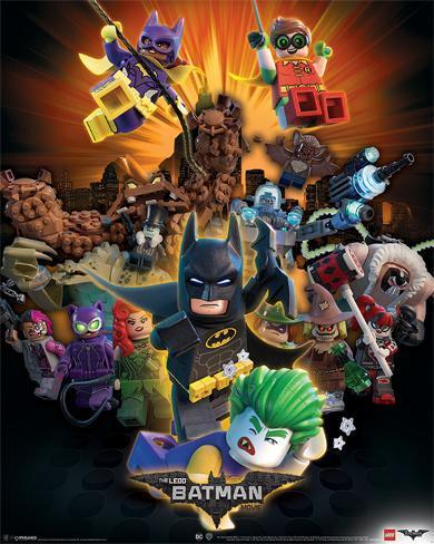 Lego Batman- Heroes And Villians Miniplakat