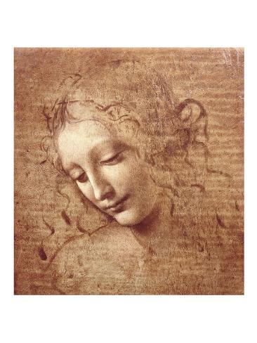 Kvindehoved (La Scapigliata), ca. 1508 Kunsttryk