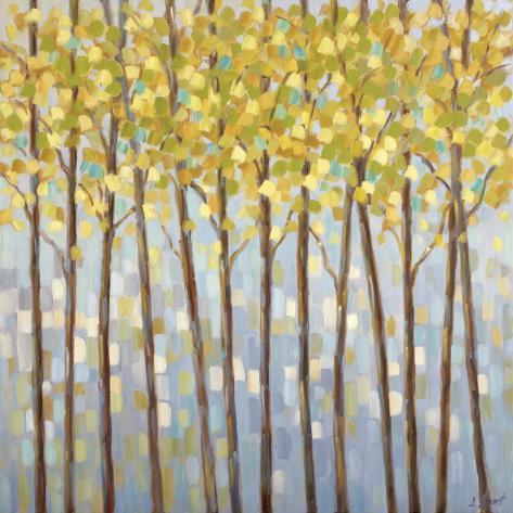 Glistening Tree Tops Kunsttryk