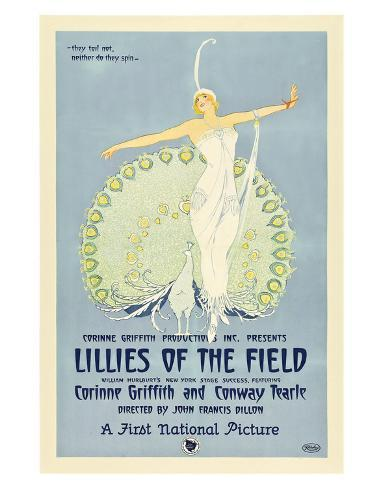 Lillies Of The Field - 1924 Giclee-trykk
