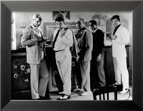 Jean-Paul Belmondo, Lino Ventura and Bernard Blier: 100,000 Dollars Au Soleil, 1964 Innrammet fotografisk trykk
