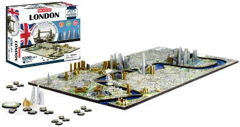 London, England 4D Puzzle Puslespill