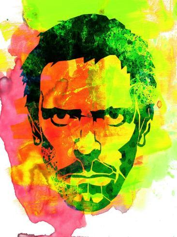 Dr. Gregory House Watercolor Kunsttryk