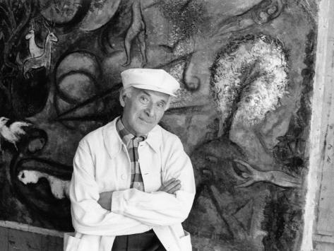 Portrait de Marc Chagall Fotografisk trykk