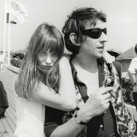Serge Gainsbourg og Jane Birkin, 23. juli, 1970 Fotografisk trykk