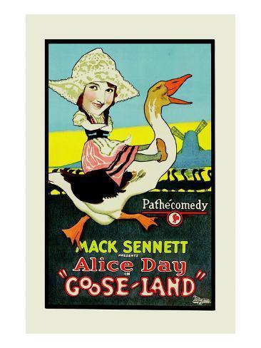 Gooseland or Goosland Premium Giclee-trykk