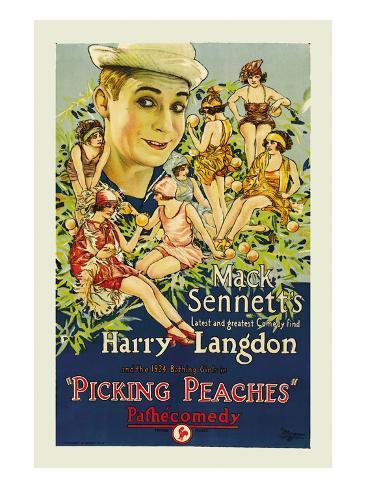 Picking Peaches Kunsttrykk
