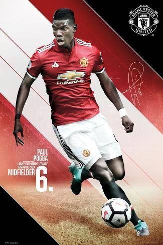 Man Utd Pogba 2017 2018 Plakat Hos Allposters No