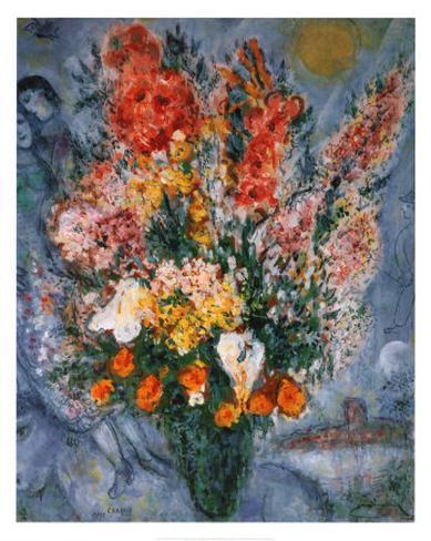 Bouquet de Fleurs Kunsttrykk