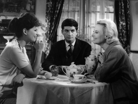 Claudia Cardinale, Jean-Claude Brialy and Michèle Morgan: Les Lions Sont Lâchés, 1961 Fotografisk tryk