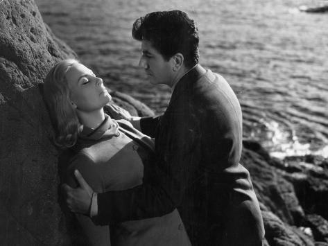Daniel Gelin and Michele Morgan: Retour de Manivelle, 1957 Fotografisk trykk