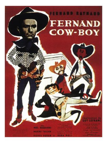 Fernand Cow-Boy, 1956 Fotografisk tryk