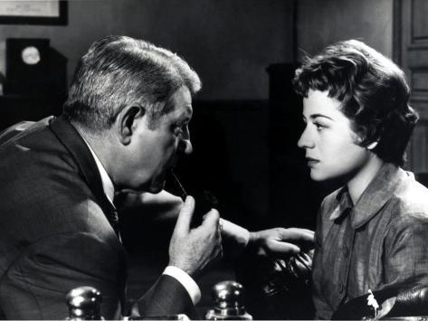 Jean Gabin and Annie Girardot: Maigret Tend Un Piège, 1958 Fotografisk trykk