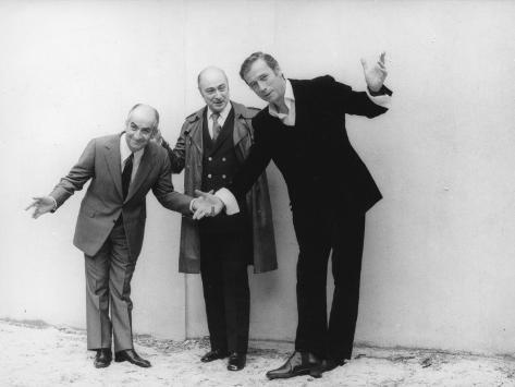 Louis de Funès, and Yves Montandshooting Picture: La Folie Des Grandeurs, 1971 Fotografisk trykk