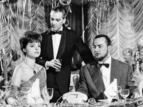 Nadja Tiller, José Luis de Villalonga and Pierre Brasseur: L'Affaire Nina B., 1961 Fotografisk tryk