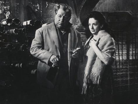 Suzanne Flon and Jean Gabin: Un Singe En Hiver, 1962 Fotografisk tryk
