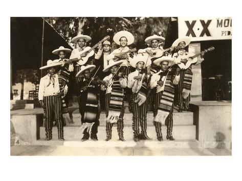 Mariachi Band, Mexico Kunsttryk