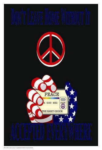 Peace Card Kunsttryk